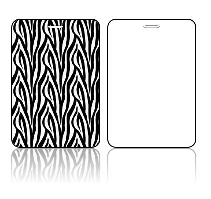 Create Design Bag Tag Zebra Print