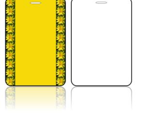Create Design Bag Tags Yellow Daisy Design