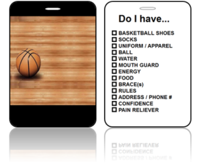 Create Design Bag Tags Basketball Court Design