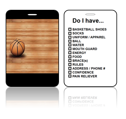 Create Design Bag Tags Basketball Court Design