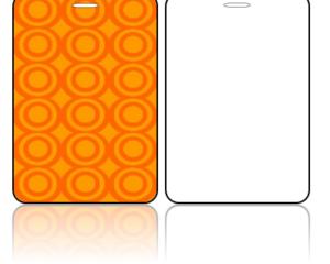 Create Design Bag Tags Orange Circles Design