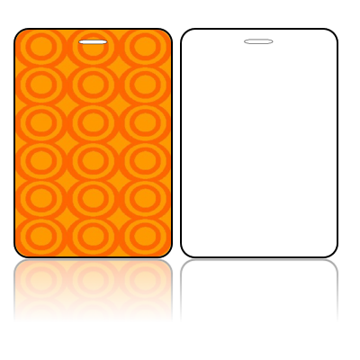 Create Design Bag Tags Orange Circles Design