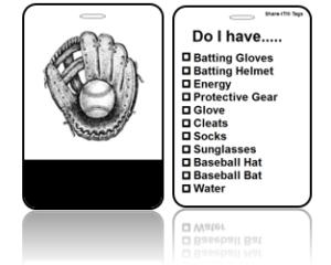 Create Design Bag Tags Baseball Glove Design