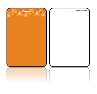 Create Design Bag Tag Orange Background