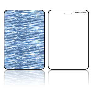 Create Design Bag Tags Blue Water Design
