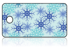 Create Design Key Tags Blue Snowflakes