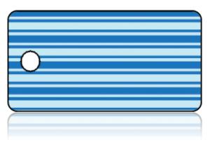 Create Design Key Tags Blue Horizontal Stripes