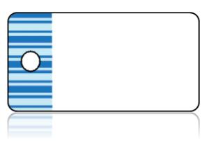 Create Design Key Tags Blues Stripes Horizontal Border