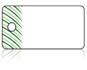 Create Design Key Tags Modern Green Pine Needles Border