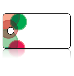 Create Design Key Tags Green Red Circles Modern