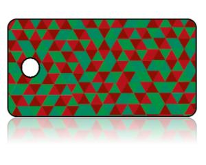 Create Design Key Tags Red Green Geometric Modern