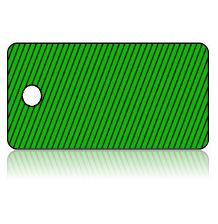 Create Design Key Tags Green Thin Red Stripes Slanted