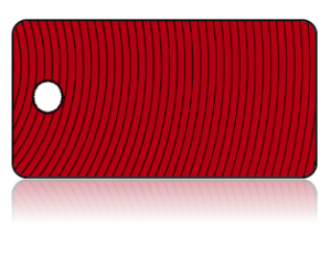 Create Design Key Tags Red Thin Curve Striped Design
