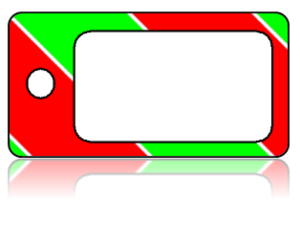 Create Design Key Tags Red Green White Christmas Present Modern