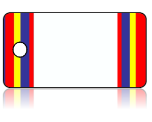 Create Design Key Tags Blue Red Yellow Stripe Border