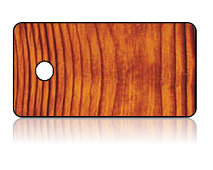 Create Design Key Tags Brown Wood Grain