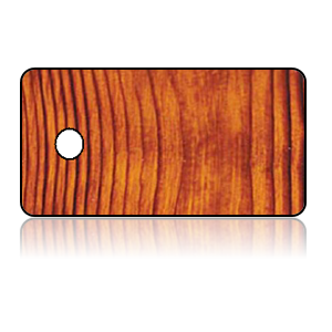 Create Design Key Tags Brown Wood Grain