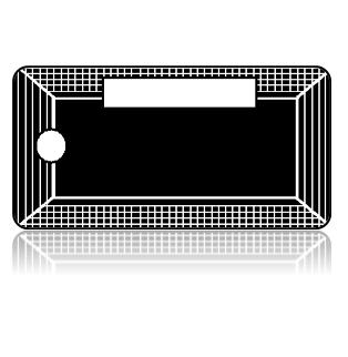 Create Design Key Tags White Netting Frame Black Background