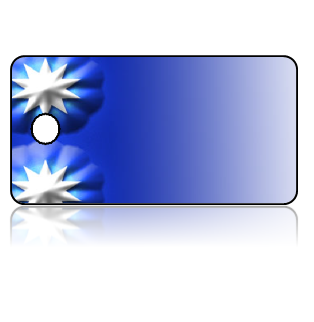 Create Design Key Tags Blue Background Modern Stars