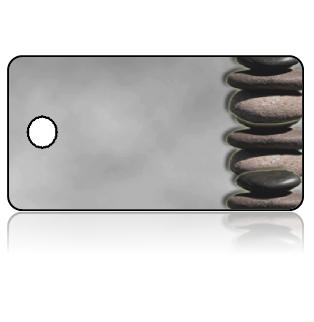 Create Design Key Tags Stone Tower Grey Gray