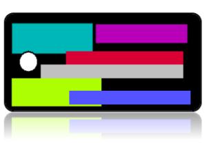 Create Design Key Tags Multi Color Retro Blocks Modern
