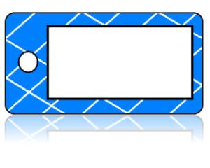 Create Design Key Tags White Box Blue Lattice