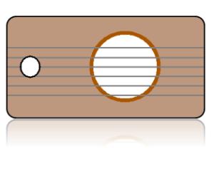 Create Design Key Tags Brown Guitar