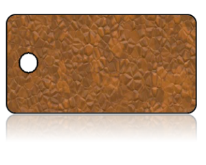 Create Design Key Tags Brown Leather Print