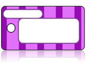 Create Design Key Tags Purple Stripes Modern