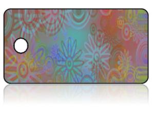 Create Design Key Tags Multi Color Retro Modern