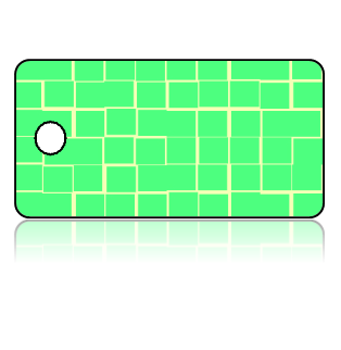 Create Design Key Tags Green Tiles