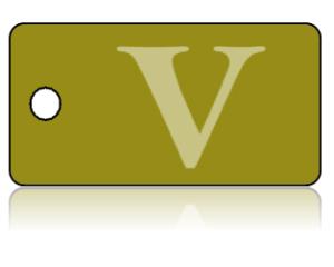 Create Design Key Tags Olive Gold V