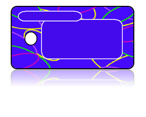 Create Design Key Tags Blue Retro Lines Modern