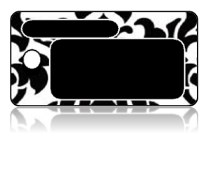 Create Design Key Tags Black White Damask Frame