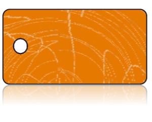 Create Design Key Tags Orange Swirls Modern