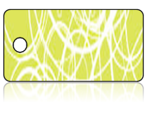Create Design Key Tags Light Olive Swirls Modern