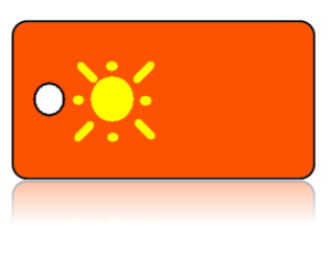 Create Design Key Tags Orange Background Yellow Sun