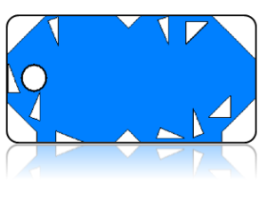 Create Design Key Tags Blue Geometric Retro Modern
