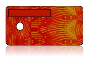 Create Design Key Tags Orange Fish Batik Modern