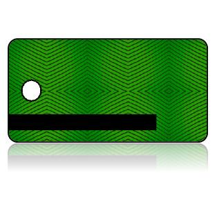 Create Design Key Tags Green Weave