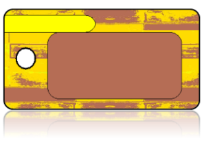 Create Design Key Tags Yellow Brown Art Deco