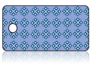 Create Design Key Tags Blue Diamond Clusters Pattern