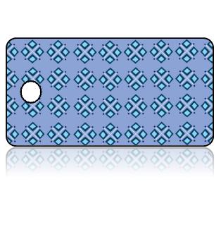 Create Design Key Tags Blue Diamond Clusters Pattern