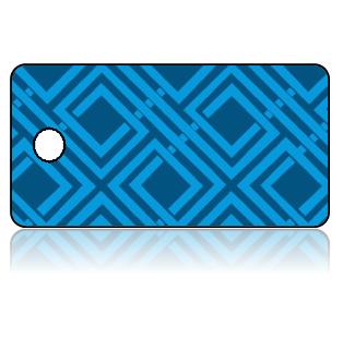 Create Design Key Tags Blue Celtic Woven Modern