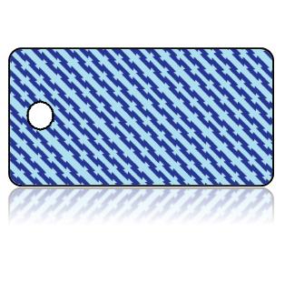Create Design Key Tags Blue Light Blue Stripes Slanted