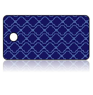 Create Design Key Tags Dark Blue Light Blue Pattern