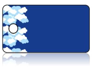Create Design Key Tags Clouds Deep Blue Sky