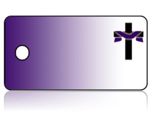 Create Design Key Tags Purple Background Cross Shroud