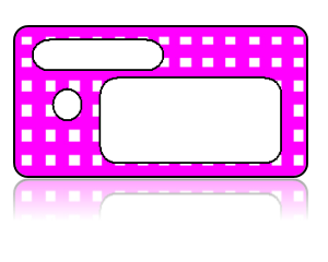 Create Design Key Tags Pink White Checker