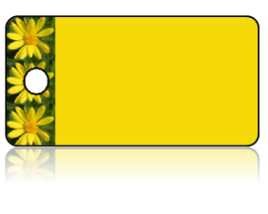 Create Design Key Tags Yellow Flowers Daisy